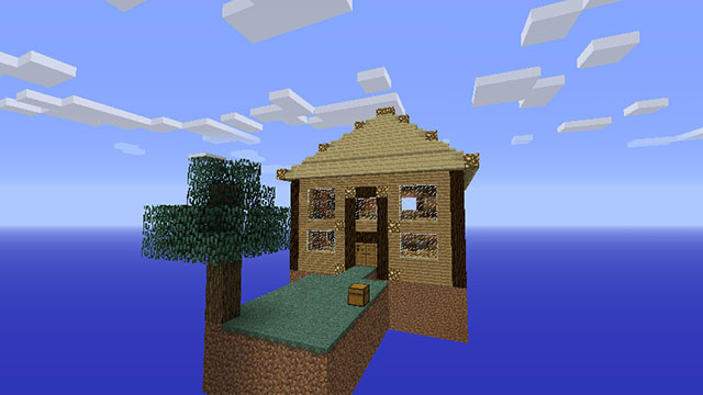 minecraft how to get skyblock