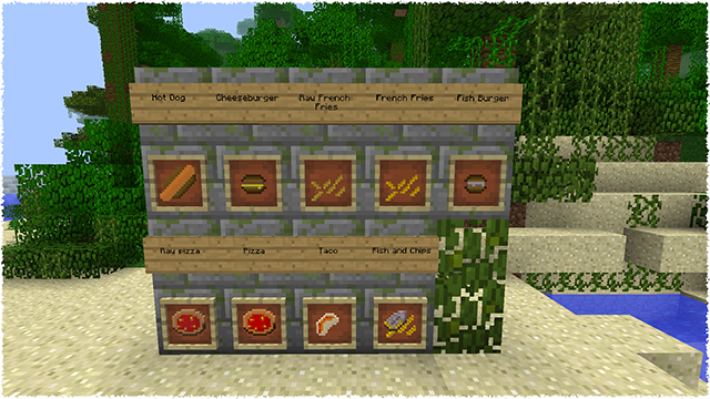 Fast food mod for minecraft 1 8 1 7 10