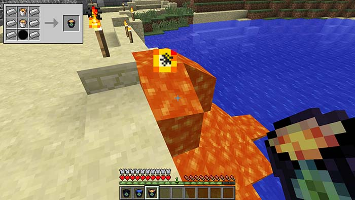 how to make an infinite lava source in minecraft 1.8