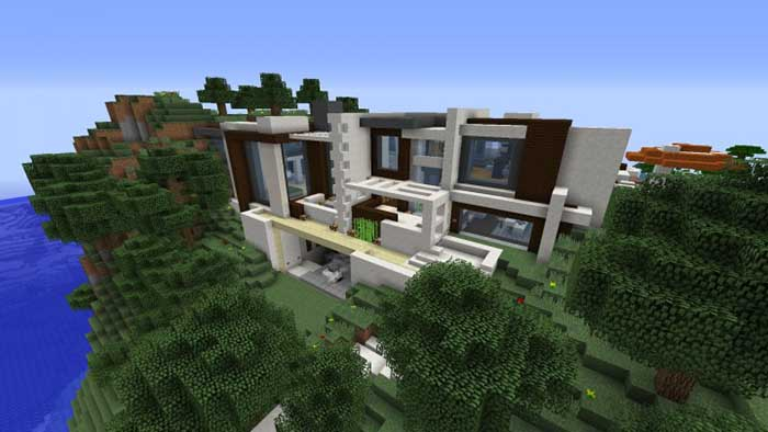 Modern redstone smart house map for minecraft 1 8 9 for Modern house mc