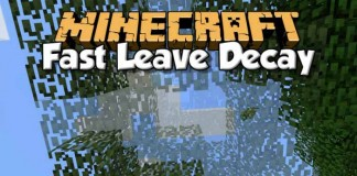 FastLeafDecay Mod for Minecraft 1.9/1.8.9/1.7.10   MinecraftSide